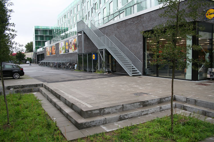 Engbakken, Lidl butik, Falck Station, Oluf Jørgensen