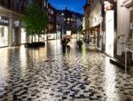 Købmagergade-i-regn, anlægsarbejde, Oluf Jørgensen