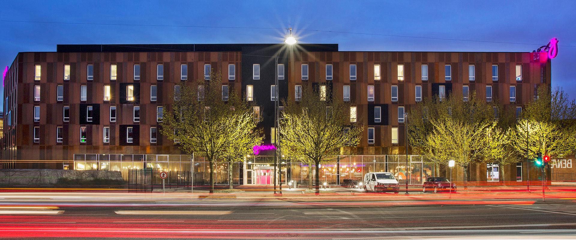 Hotel Moxy Copenhagen, anlægsarbejde, konstruktioner, brandrådgivning, Oluf Jørgensen