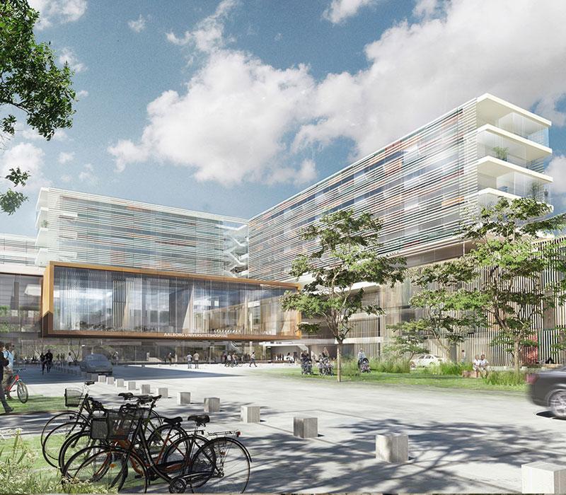 Nyt Aalborg Universitetshospital, NAU, Oluf Jørgensen A/S, reference Sundhed