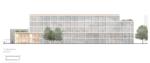 Kernehuset – Nyt rådhus Rødovre kommune, visualisering facade nordvest
