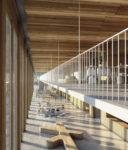 Kernehuset – Nyt rådhus Rødovre kommune, visualisering hall