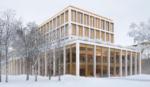 Kernehuset – Nyt rådhus Rødovre kommune, visualisering vinter